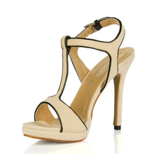 Elegant Leatherette Buckle Stiletto Heel Sandals For Women