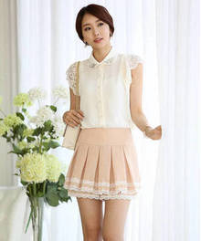 Casual Chiffon Women's Turndown Collar Blouse