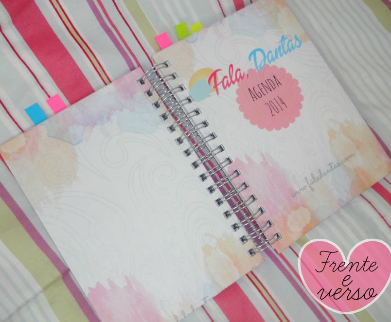 Agenda personalizada do blog Fala Dantas – Layout of an Agenda