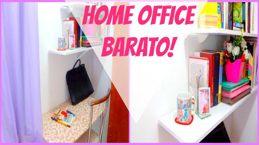 Como montar seu home office gastando pocuo