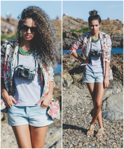 Look do dia: Blazer floral e jeans