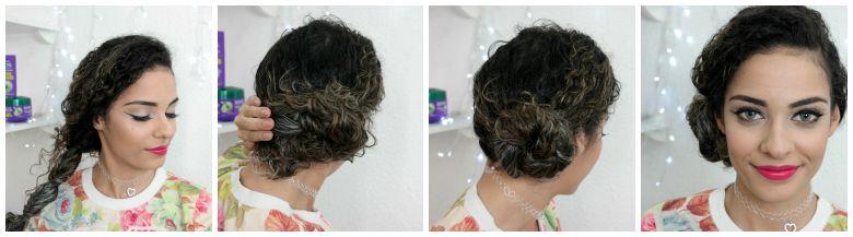 coque+trança+cabelos+cacheados+penteados