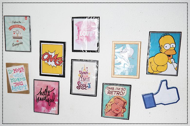 decoracao+barata+parede+de+quadros
