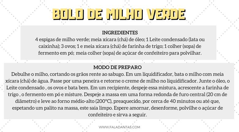 AS MELHORES RECEITAS PARA O SÃO JOÃO