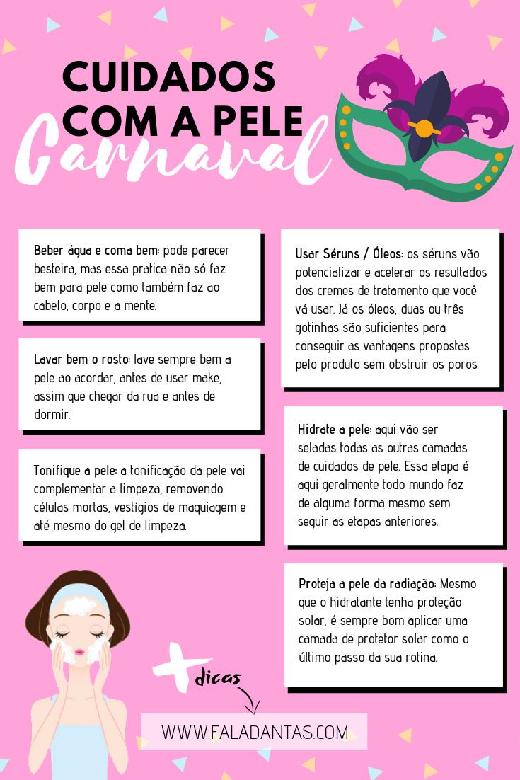 QUAIS SÃO OS CUIDADOS COM A PELE NO CARNAVAL
