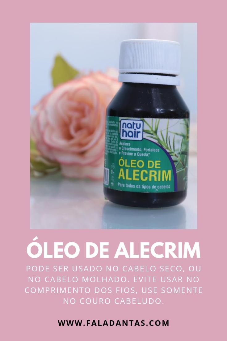 ÓLEO DE ALECRIM NO CABELO PRA CRESCIMENTO CAPILAR