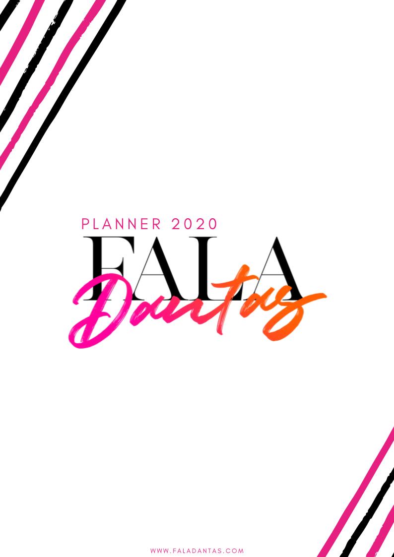 PLANNER 2020 FALA DANTAS PARA DOWNLOAD